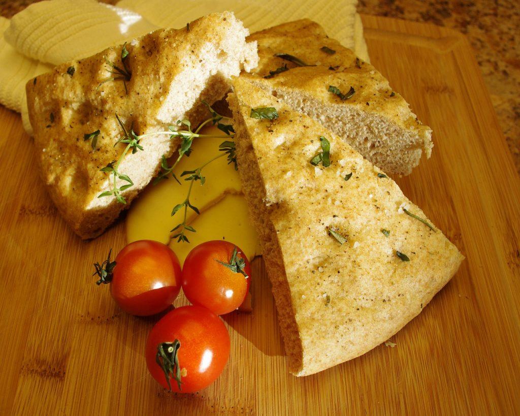 focaccia een typische Ligurisch gerecht