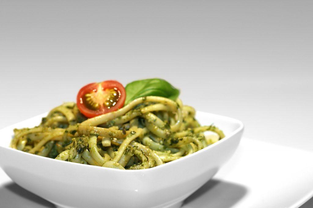 typisch Ligurische pasta pesto