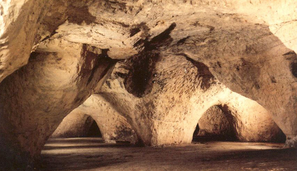 Ligurisch eten in een grot